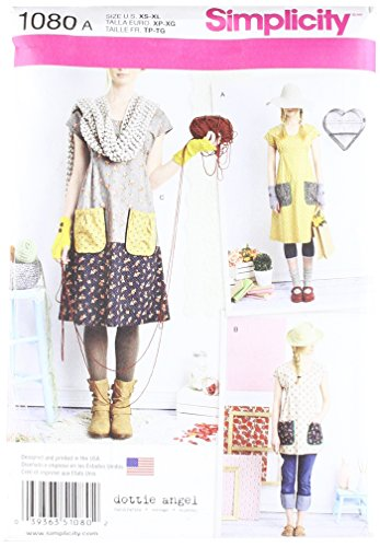 Simplicity Pattern 1080 Misses#039 Dress or Tunic by Dottie Angel Size A XSSMLXL
