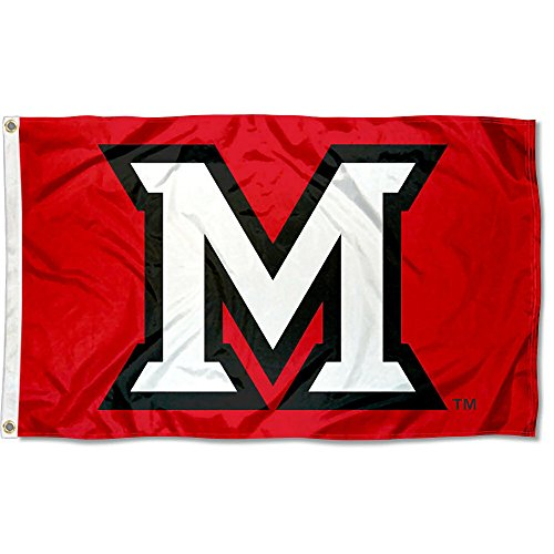 College Flags and Banners Co. Miami Redhawks Beveled M Flag