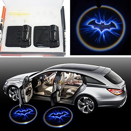 SunroadTek® 2 x LED car door Shadow laser projector logo light for Chevrolet Chevy Aveo Camaro Caprice Captiva Celta Colorado Corvette Cruze Lacetti Lova Malibu.. (Chevy Caprice 2 Door)
