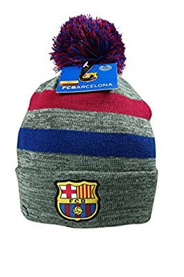 FC Barcelona Authentic Official Licensed Product Soccer Beanie (One Size, FCBarcelona-Beanie-110)
