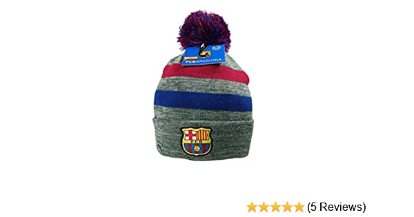7135d2ce600 Amazon.com  FC Barcelona Authentic Official Licensed Product Soccer Beanie (One  Size