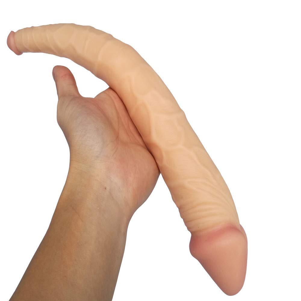 Doble Cabeza Falsa Pene Femenino Masturbación Simulación Divertido Suave Falso Pene Divertido Simulación Juguete Adulto Suministros Plus Largo Penny Pull Tamaño: Longitud Total 36cm, Longitud: 36cm, Diámetro: 5cm/2.2 cm b4305b