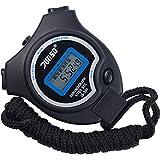 Digitale Stoppuhr Timer Handheld Digital Stoppuhr für Sports Training , Schwarz