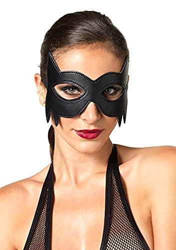 Womens-Kink-By-Faux-Leather-Fantasy-Eye-Mask-Cat-Mask