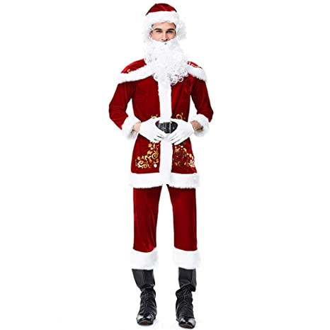 HIU Adultos Traje De Santa Claus Traje De La Navidad ...