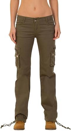 Pantalones Cargo Militares Para Mujer Jeans De Combate Anchos Y Sueltos Verde 46 Amazon Es Ropa Y Accesorios