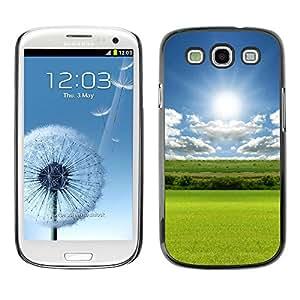 """For SAMSUNG Galaxy S3 III / i9300 / i747 , S-type Naturaleza Campo Verde"""" - Arte & diseño plástico duro Fundas Cover Cubre Hard Case Cover"""