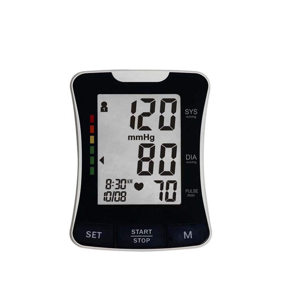 WShijie Indicador de Ritmo cardíaco Irregular con esfigmomanómetro Digital en la Parte Superior del Brazo y Detector de frecuencia cardíaca,Black: ...
