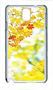 Fashion Style With Digital Art - Autumn Maple Leaf Skid PC Back Cover Case for Samsung Galaxy Note 3 N9000 hjbrhga1544