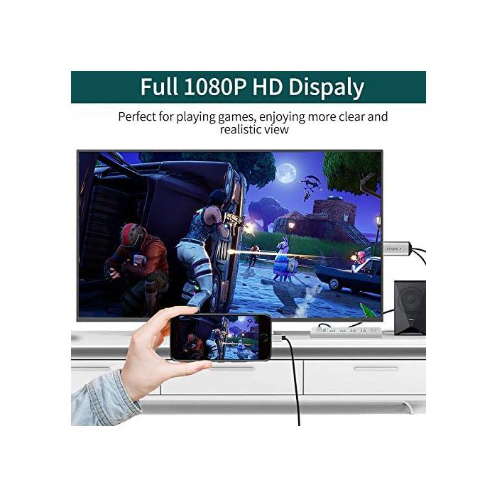 51x D6hoCyL Haz clic aquí para comprobar si este producto es compatible con tu modelo ?【Plug & Play, disfruta de una pantalla grande】El cable HDMI MPIO puede conectar fácilmente el iphone/iPad a HDTV, monitor o proyector con entrada HDMI; es una solución ideal para conferencias, presentaciones, juegos, videollamadas o ampliar el espacio de trabajo conectando sus dispositivos a una pantalla grande. ?【Cable HDMI Mejorado】Chip avanzado de alto rendimiento, garantiza una transmisión de alta velocidad, pureza del vídeo HD y audio digital, el volumen es más pequeño que el cable HDMI tradicional, no tienes que preocuparte por usar 2 cables HDMI simultáneamente en una ranura estrecha.