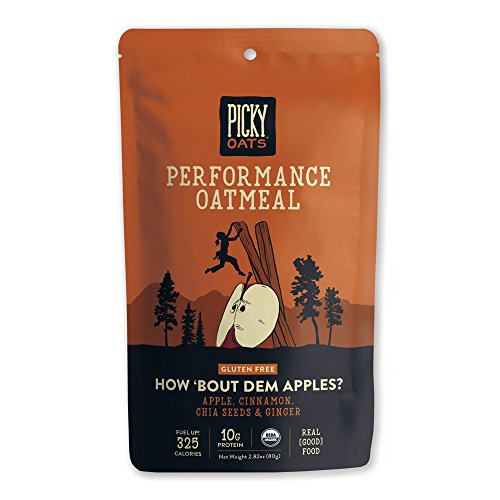 Picky Oats Organic Performance Oatmeal, How 'Bout Dem Apples?, 2.8 oz (Pack of 10) By Picky (Oatmeal Bar Recipe)