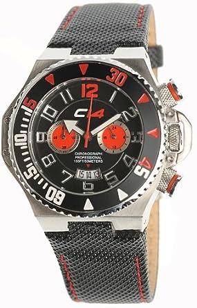 Carbon 14 Herren-Chronograph Armbanduhr E1.1 mit schwarzem Nylon Band