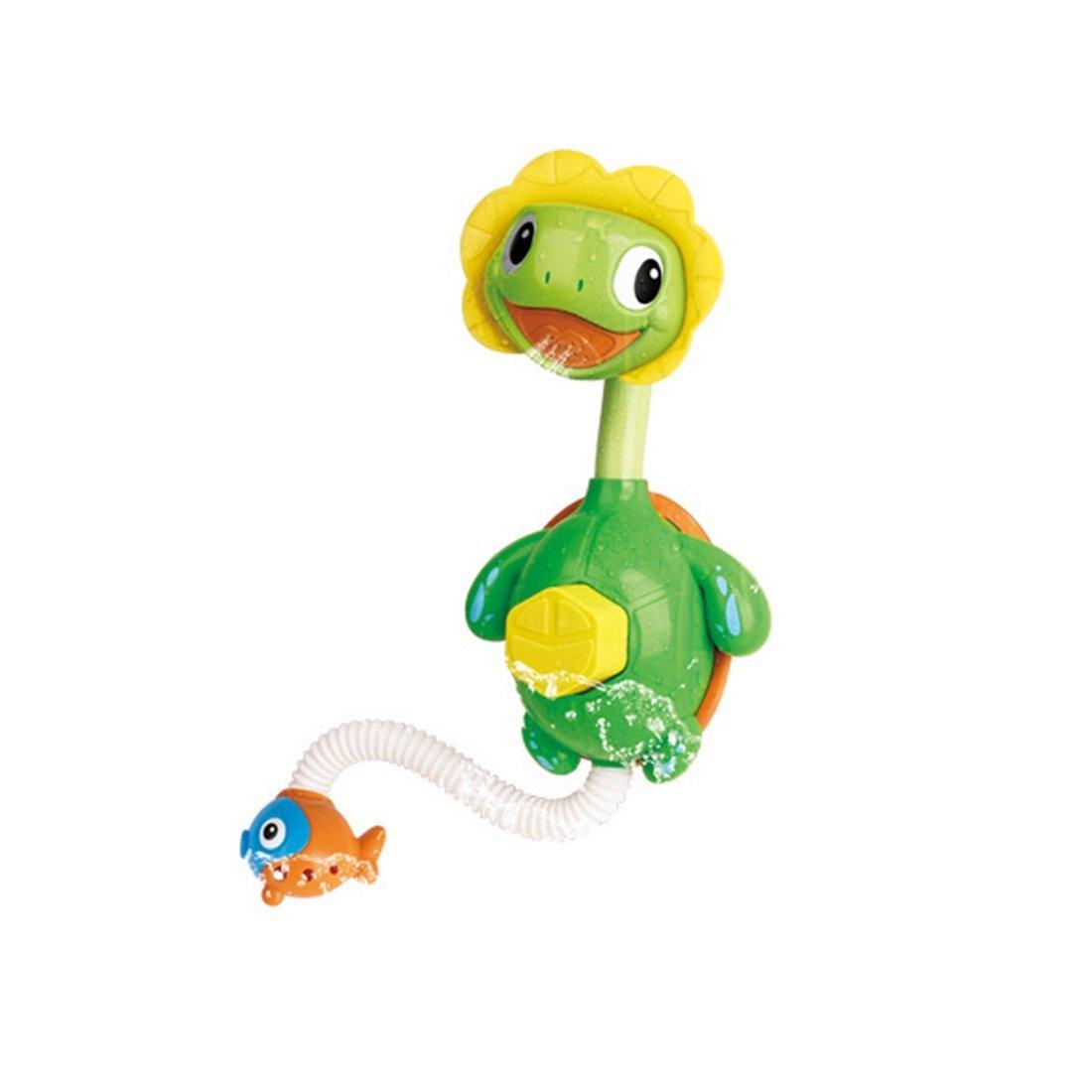SODIAL Kawaii bath toy children Small turtle bathing sprinkler toys ...