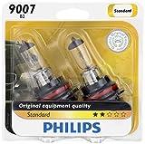 headlights for 99 dodge ram 2500 - Philips 9007 Standard Halogen Replacement Headlight Bulb, 2 Pack