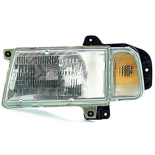 30020200 Headlamp (CPP Left Driver Side Headlight Head Lamp for 1990-1997 Geo Tracker, 98 Chevy Tracker)