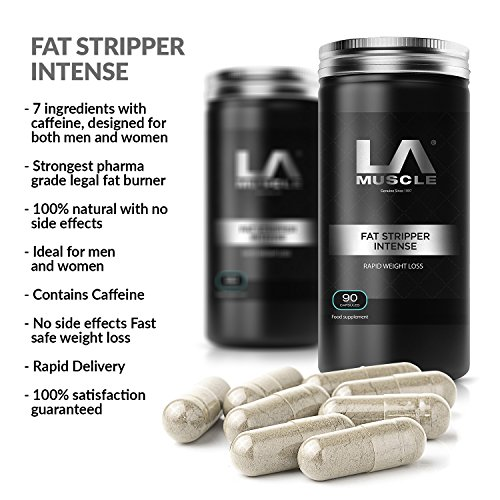LA Muscle Fat Stripper Intense Weight Management Pills 90 Capsules. 100% Natural , No Side Effects, Pharma Grade, Patented, Amazing fat loss, Quick Results, suitable for both men and women