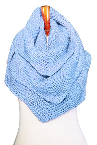 Basico Women Winter Infinity Scarf Warm Knitted Circle Loop Various Colors (Tulip 1pk Baby - Tulip Colours