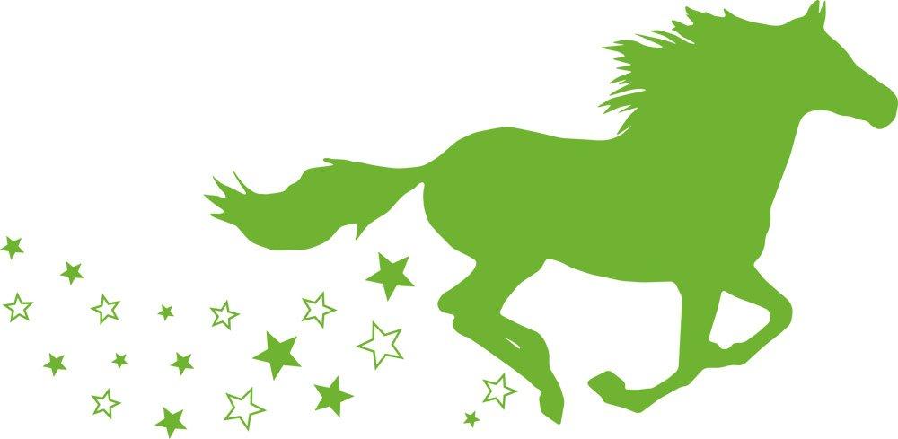 GRAZDesign 300053_57_WT010 Wandtattoo Wandaufkleber Tattoo Tattoo Tattoo für Mädchenzimmer Pferd galoppieren Sterne (116x57cm    010 Weiss) B01F1U8U5A Wandtattoos & Wandbilder 0738c8
