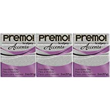 Premo Sculpey Polymer Clay 2 Ounces-Gray Granite (3 Pack)