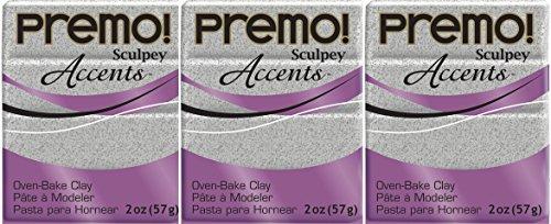 Premo Sculpey Polymer Clay 2 Ounces-Gray Granite (3 - Granite Accents Faux
