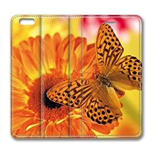 Butterfly Flower Leather Cover for iPhone 6 Plus by Cases & Mousepads