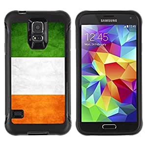 Paccase / Suave TPU GEL Caso Carcasa de Protección Funda para - National Flag Nation Country Ireland - Samsung Galaxy S5 SM-G900