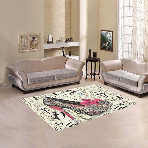 7' High Heels (Custom High Heels Area Rug Cover Indoor/Outdoor Decorative Floor Rug 2'7