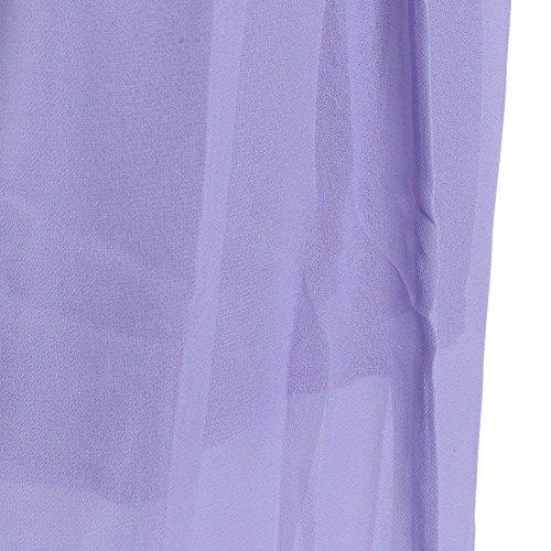 Harem Elastico Pantschic Coulisse Baggy Rinalay Con Tulle Puro Colore Pantaloni Violett Casuale Moda Pantaloni Chiffon Accogliente Donna Lunga Estivi Larghi AtAqS6Ew