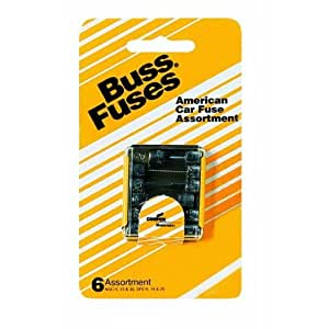 Bussmann UK-6 American Glass Car Kit with AGC-5, 15 and 30, SFE-9, 14 and 20 Amp Fuses Carded - 6 Pack