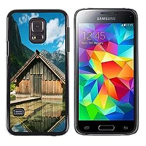TopCaseStore / la caja del caucho duro de la cubierta de protección de la piel - Lake cabins - Samsung Galaxy S5 Mini, SM-G800, NOT S5 REGULAR!