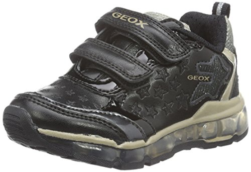 Zapatillas para ni�a, color Negro , marca GEOX, modelo Zapatillas Para Ni�a GEOX J ANDROID G. A Con Luces Negro Negro (Black C9999)
