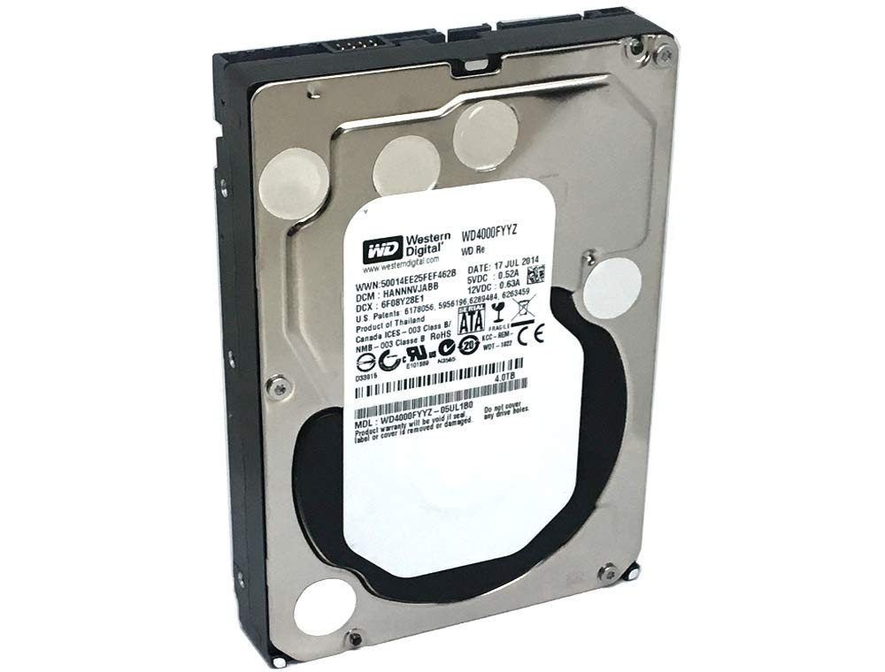 Western Digital RE 4TB 7200RPM 64MB Cache SATA 6.0Gb/s 3.5'' Enterprise Internal Hard Drive (WD4000FYYZ) OEM - 3 Years Warranty