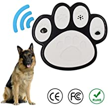 WeBeauty Ultrasonic Dog Bark Control Device 2018 New Anti-Barking Training Tool, Environmental protection ABS Materials, Safe for All Dogs Outdoor/Indoor, Up to 50 Feet Range Effective (Paw Design)