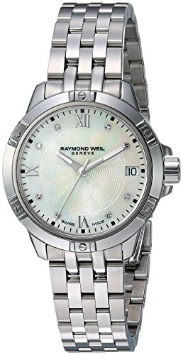 Raymond Weil Women's Swiss-Quartz Watch with Stainless-Steel Strap, Silver, 18 (Model: 5960-ST-00995