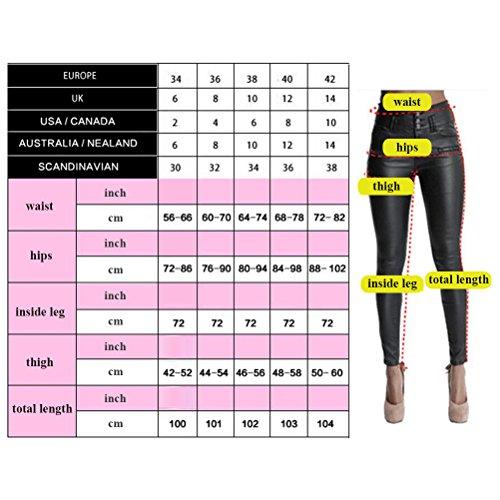 Le Colore Jeans Svasata Allungare A Tessitura Signore Splicing Forma Alta Dimagrante Per I Denim Doppio Blu Vita Pantaloni Zhhlaixing ERqOwPx