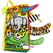Soft Cloth Books,Baby Intelligence Development Learning & Education Toy (jungle)