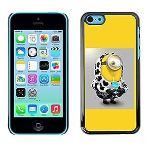 SoulCase / Apple Iphone 5C / Cute Yellow Cow Custom / Delgado Negro Plástico caso cubierta Shell Armor Funda Case Cover