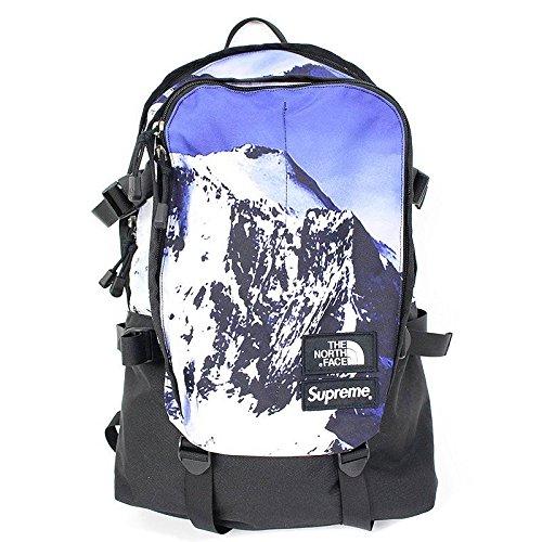 (シュプリーム) SUPREME ×ノースフェイス/THE NORTH FACE 【17AW】【Mountain Expedition Backpack】マウンテン総柄バックパック(ブルー×ブラック) 中古 B07D6K8N98