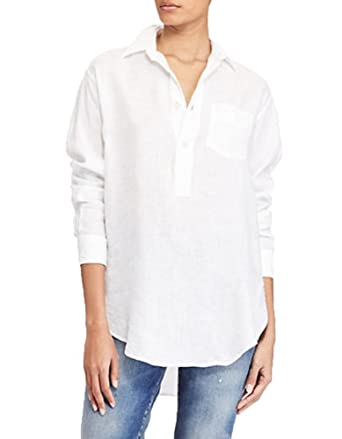 256d9d9b42cb Polo Ralph Lauren Lightweight Relaxed-Fit Linen Tunic at Amazon Women s  Clothing store