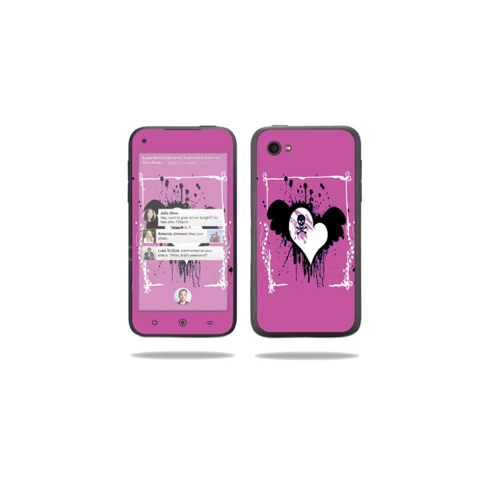 MightySkins Protective Vinyl Skin Decal Cover for HTC First Cell Phone Sticker Skins Poison Heart Electronics