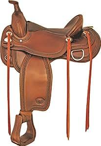 Tex Tan Memphis Flex Western Trail Saddle 16In Pec