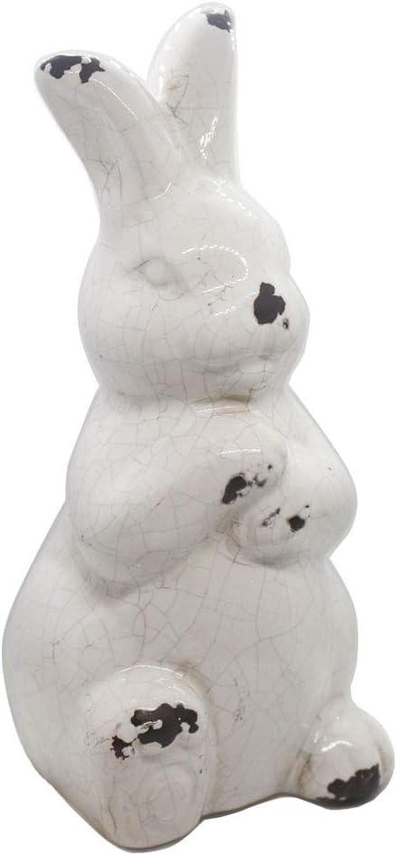 rustic ceramic bunny
