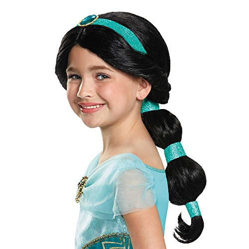 Child Jasmine Princess Costume (Jasmine Disney Princess Aladdin Wig, One Size)