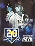 Baseball 2018 RAYS YEARBOOK PROGRAM 20TH ANNIVERSARY EDITION 128 PAGES OFFICIAL TEAM YEARBOOK