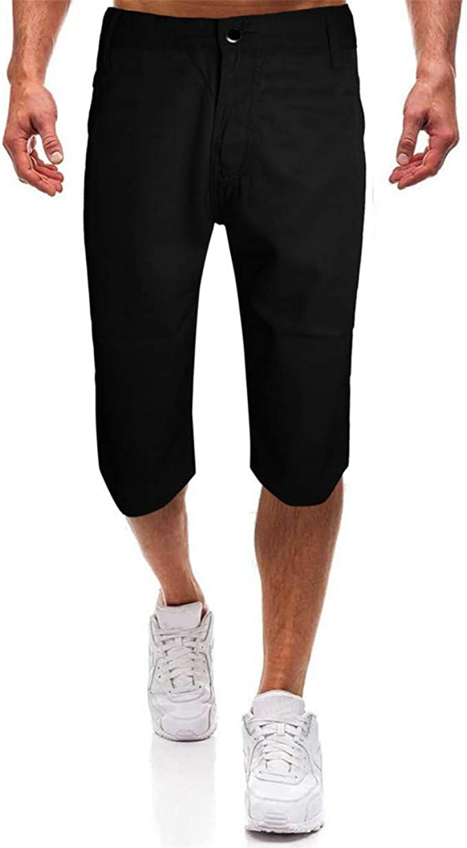 wodceeke Fashion Men Casual Solid Wide Beach Casual Men Short Trouser Shorts Pants Swim Trunks