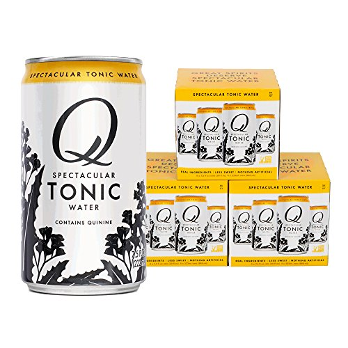 Q Mixers, Q Tonic Spectacular Tonic Water, Premium Mixer, 7.5 Fl Oz Slim Can (Pack of 12)