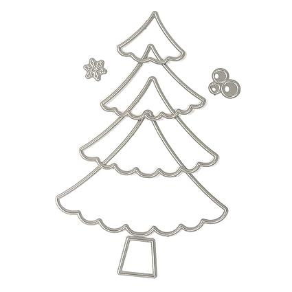 Amazon.com: Zeroyoyo Stitching Christmas Tree Album Frame Metal ...