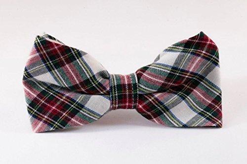 Tartan Plaid Dog Bow Tie