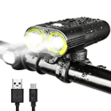 INTEY Bike Light LED Bicycle Lights USB Rechargeable Bicycle Headlight 1600 Lumens IPX6 Waterproof