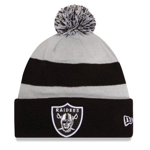 Oakland Raiders New Era On Field Sport Knit Hat (New Era Beanie)
